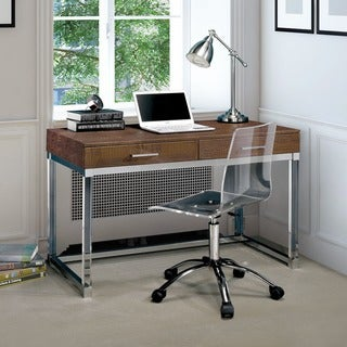 Furniture of America Mamel Contemporary Acrylic 2-drawer Computer Desk