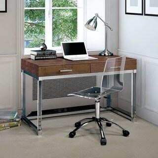 Furniture of America Mamel Contemporary 2-drawer Crocodile Textured Acrylic Computer Desk