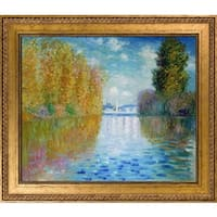 Claude Monet 'Autumn at Argenteuil' Hand Painted Framed Oil Reproduction on Canvas