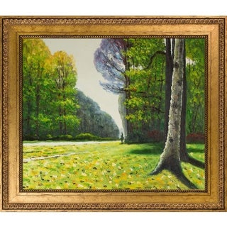 Claude Monet 'The Road to Bas-Breau, Fontainebleau' Hand Painted Framed Oil Reproduction on Canvas