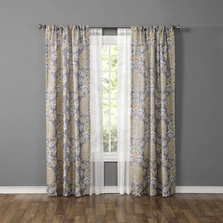 Made4You Damask and Sheer Curtain Panel (Set of 4)|https://ak1.ostkcdn.com/images/products/15273375/P21743527.jpg?impolicy=medium