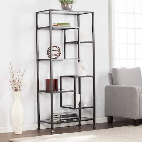 Jensen Metal Asymmetrical Display Bookcase Etagere