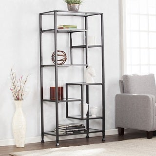 Metal and glass bookcase Antique Metal Buy Iron Bookshelves Bookcases Online At Overstockcom Our Best Living Room Furniture Deals Overstock Buy Iron Bookshelves Bookcases Online At Overstockcom Our Best