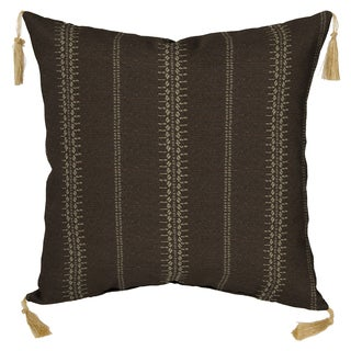 Bombay® Outdoors Trevor Stripe Espresso Toss Pillow with Tassels