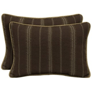 Bombay Outdoors Trevor Stripe Espresso Oversize Lumbar Pillow with Welt