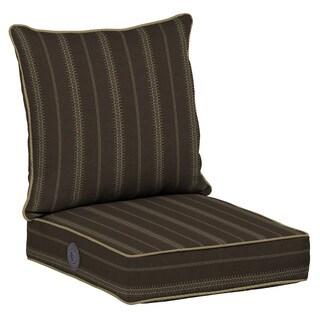 Bombay® Outdoors Trevor Stripe Espresso Adjustable Comfort Deep Seat Cushion Set