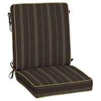 Bombay® Outdoors Trevor Stripe Espresso Snap Dry™ Chair Cushion