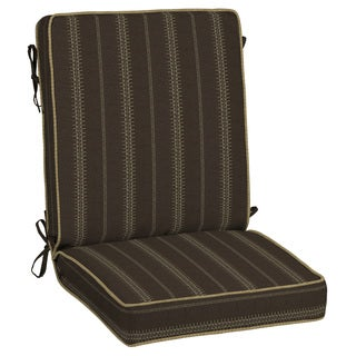 Bombay® Outdoors Trevor Stripe Espresso Snap Dry Chair Cushion