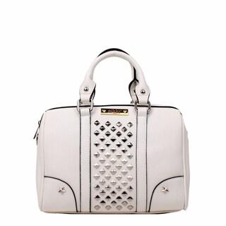 Nikky Dido White Boston Satchel Handbag