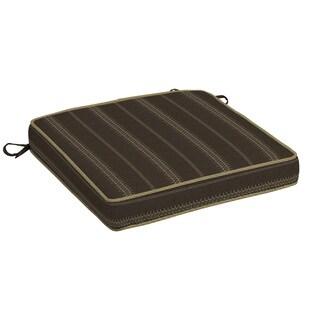Bombay® Outdoors Trevor Stripe Espresso Snap Dry Double Welt Seat Cushion