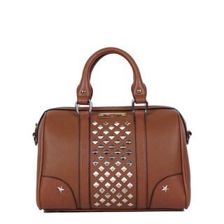 Nikky Dido Brown Boston Satchel Handbag