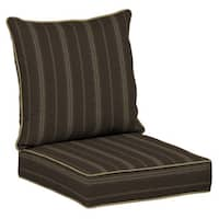 Bombay® Outdoors Trevor Stripe Espresso Snap Dry™ Deep Seat Cushion Set