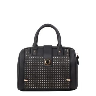 Nikky Hadley Black Boston Satchel Handbag