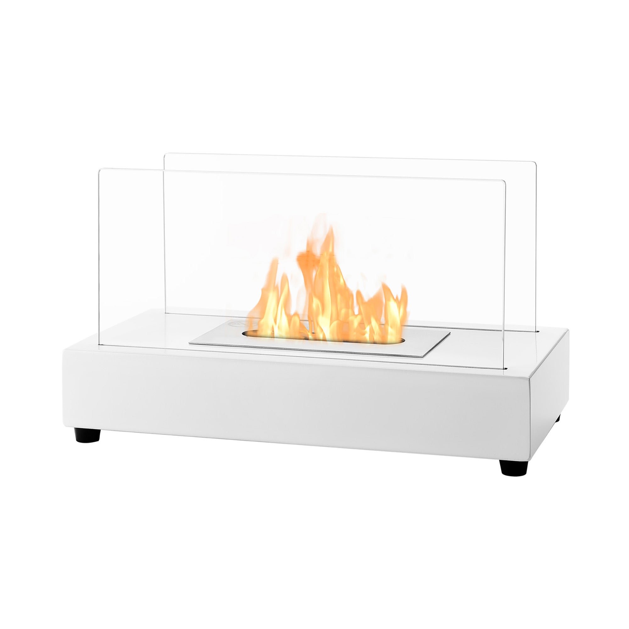 IGNIS Tower White Tabletop Ventless Ethanol Fireplace (Wh...