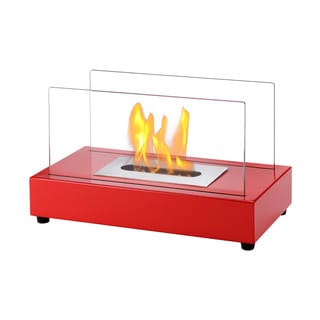 Ignis Tower Red Tabletop Ventless Ethanol Fireplace