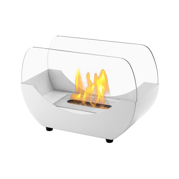 Ignis Liberty White Tabletop Ventless Ethanol Fireplace