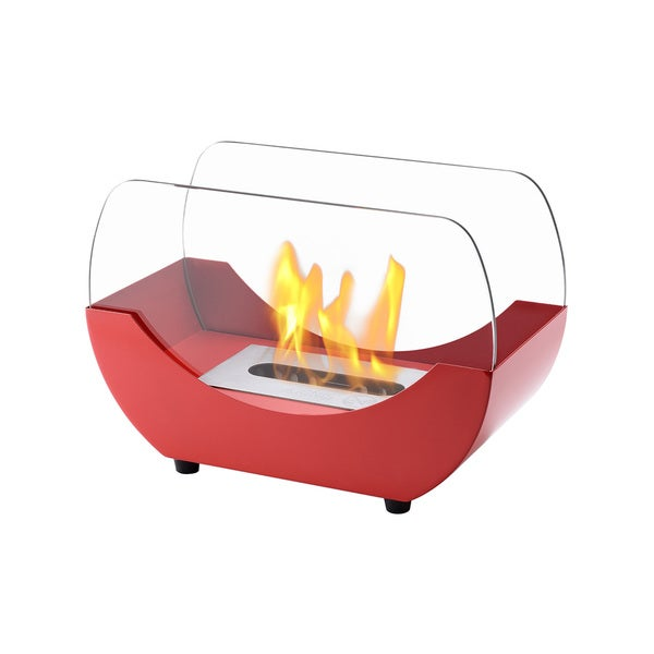 Ignis Liberty Red Tabletop Ventless Ethanol Fireplace