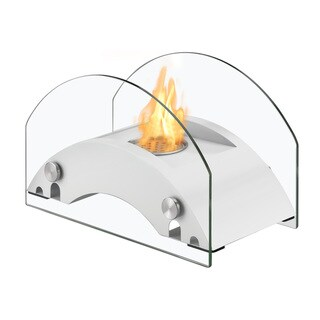 Ignis Harbor White Tabletop Ventless Ethanol Fireplace