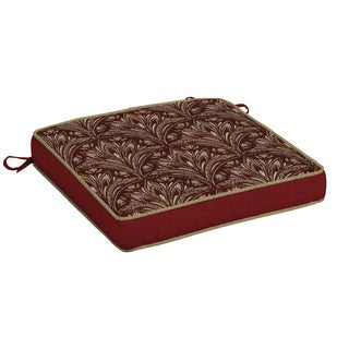 Bombay® Outdoors Royal Zanzibar Berry Snap Dry Double Welt Seat Cushion
