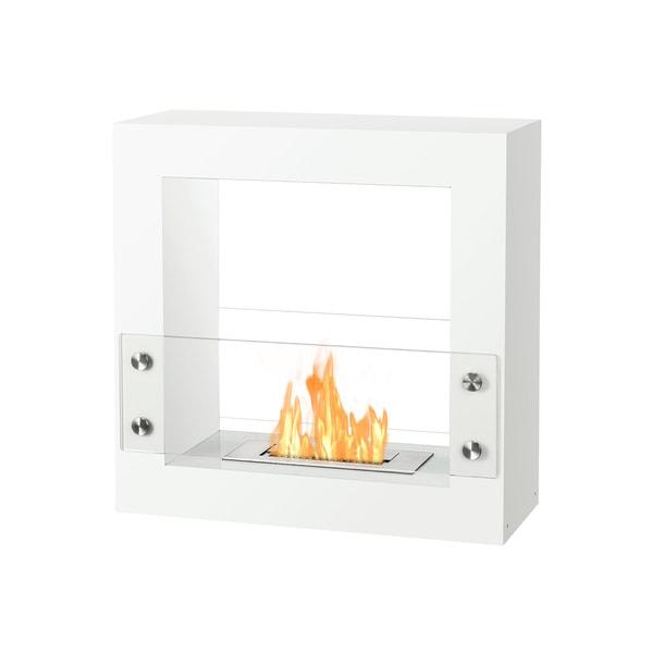 Ignis Tectum Mini White Freestanding Ventless Ethanol Fireplace
