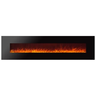 Ignis Royal 95 inch Electric Fireplace with Crystals