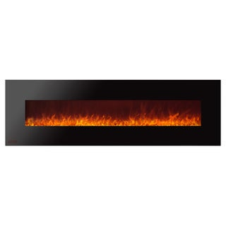 Ignis Royal 72 inch Electric Fireplace with Crystals