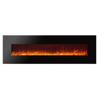 Ignis Royal 72 inch Electric Fireplace with Pebbles