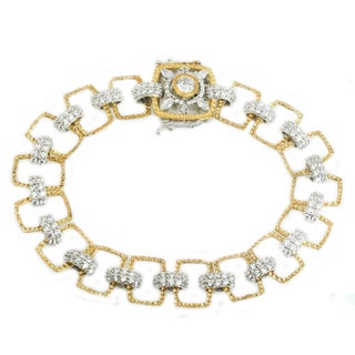 Michael Valitutti Sterling Silver Round & Marquise Cubic Zirconia Bracelet