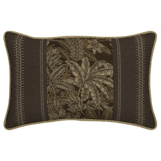 Bombay® Outdoors Palmetto Espresso Pieced Face Lumbar