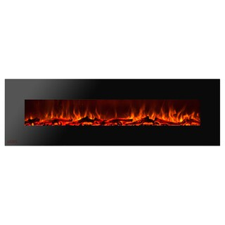 Ignis Royal 72 inch Electric Fireplace with Logs