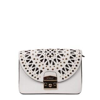 Nikky Alva White Chain Strap Crossbody Handbag
