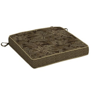 Bombay® Outdoors Palmetto Espresso Snap Dry Double Welt Seat Cushion