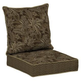 Bombay® Outdoors Palmetto Espresso Snap Dry Deep Seat Cushion Set