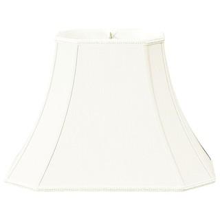 Royal Designs White Rectangular Bell Cut Corners Lampshade