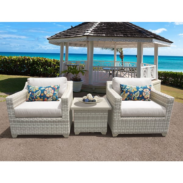 Fairmont Patio Furniture.Shop Fairmont 3 Piece Outdoor Wicker Patio Furniture Set 03a Free