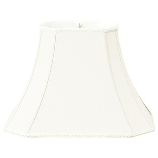 Royal Designs Rectangle Bell w Cut Corners Designer Lamp Shade, White, (6.25 x 8) x (11 x 16)12