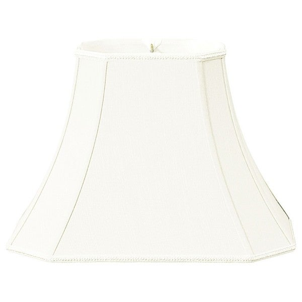 Royal Designs Rectangle Bell w Cut Corners Designer Lamp Shade, White, (5 x 6.5) x (8.5 x 12)9.5