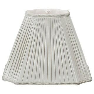 Royal Designs Inverted Cut Corner Pleated Designer Lamp Shade, Grey, 6.5 x 13.5 x 10.5