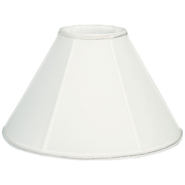 Royal Designs Round Empire Designer Lamp Shade, White, 6 x 16 x 10