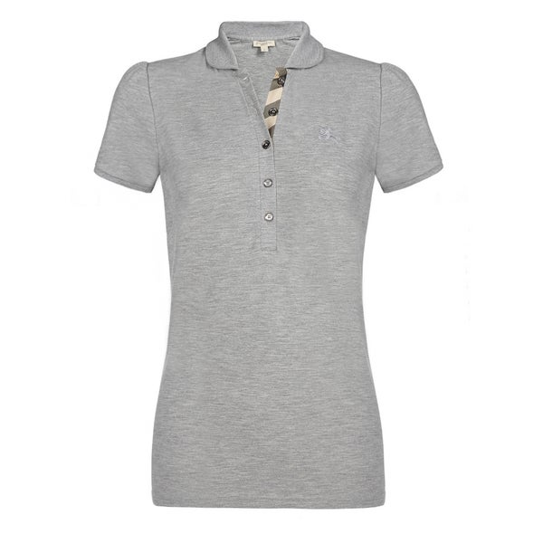 823e26d5 Shop Burberry Women's Grey Cotton Melange Polo Shirt - On Sale - Free  Shipping Today - Overstock - 15274135