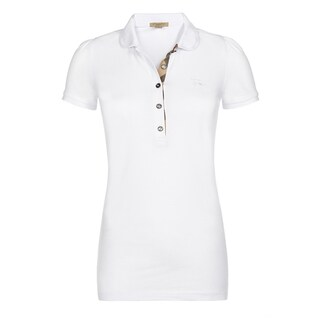 Burberry Women's White Cotton Polo Shirt