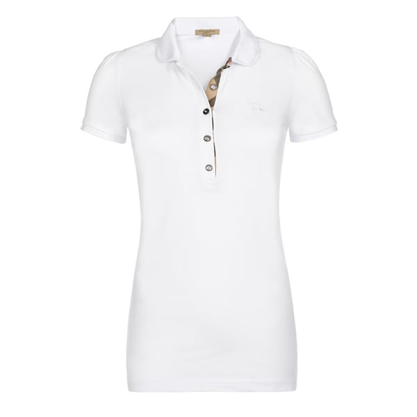 2235f337c Shop Burberry Women s White Cotton Polo Shirt - On Sale - Free Shipping  Today - Overstock - 15274137