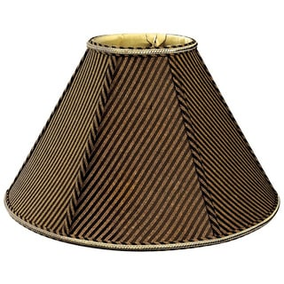Royal Designs Round Empire Designer Lamp Shade, Striped Brown/Black, 4.5 x 12 x 7.5 (As Is Item)