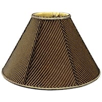 Royal Designs Round Empire Designer Lamp Shade, Striped Brown/Black, 3.5 x 10 x 6