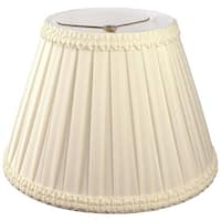 Royal Designs Pleated Square with Top Gallery Designer Lamp Shade, Beige, 5 x 8 x 7.5