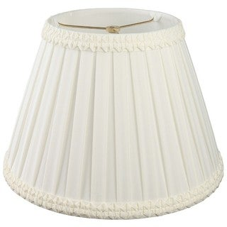 Royal Designs Pleated Square with Top Gallery Designer Lamp Shade, White, 9 x 16 x 11.5