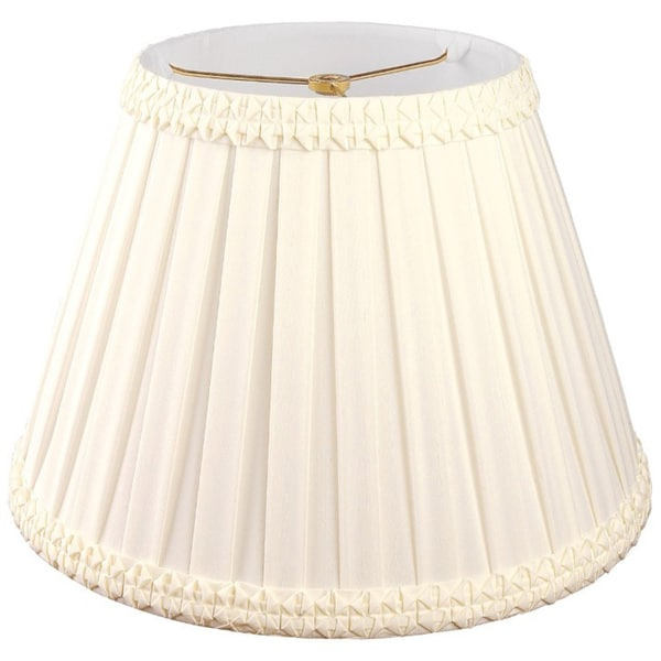 Royal Designs Pleated Square with Top Gallery Designer Lamp Shade, Eggshell, 9 x 16 x 11.5