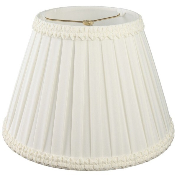 Royal Designs Pleated Square with Top Gallery Designer Lamp Shade, White, 8 x 14 x 10.5