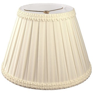 Royal Designs Pleated Square with Top Gallery Designer Lamp Shade, Beige, 6 x 10 x 8.5