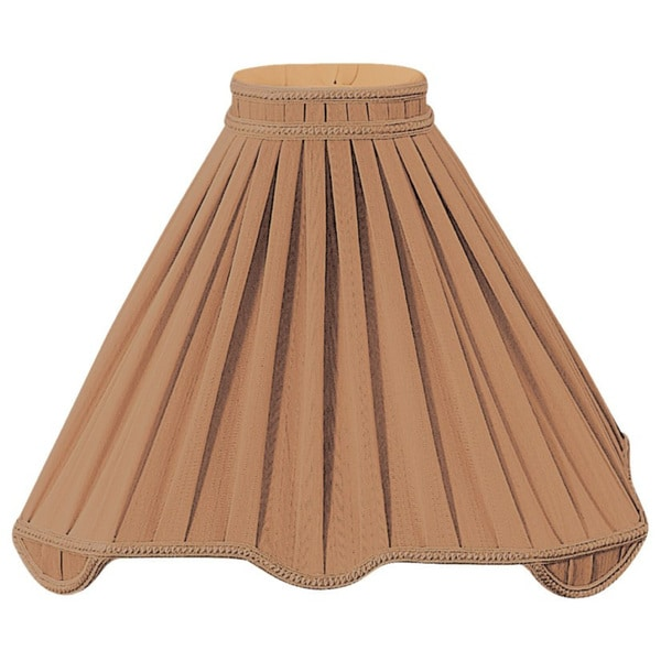 Royal Designs Pleated Square with Top Gallery Designer Lamp Shade, Brown, 5.5 x 17 x14.5